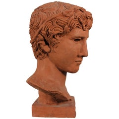 Bust of a Young Man, Antique Ephebe by Morin Dry