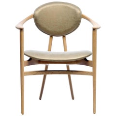 Bianca Armchair in Oak, Ash or Walnut with Back Pan