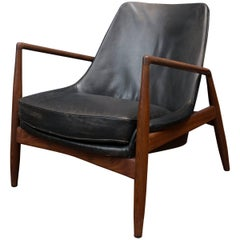 Ib Kofod-Larsen Leather Seal Chair for OPE