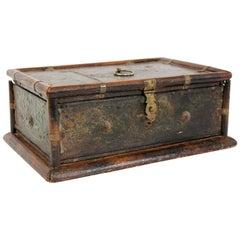 Interesting 17th Century Polychrome Fruitwood Box