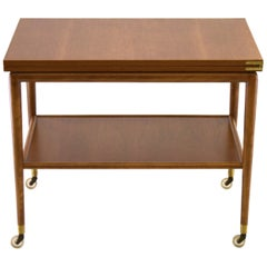 T.H. Robsjohn-Gibbings folding flip-top Bar Server Cart for Widdicomb