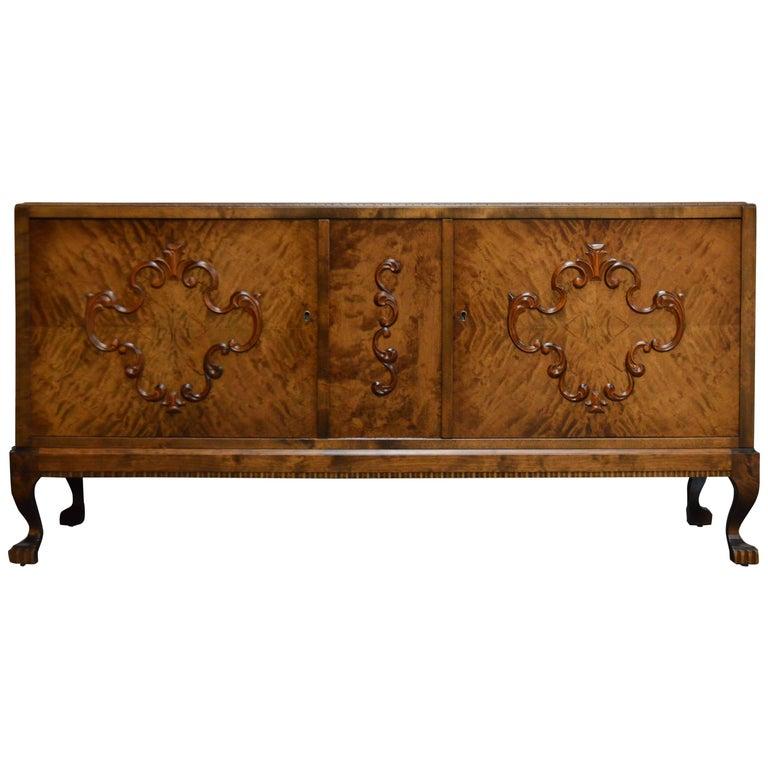 Swedish Neoclassical Revival Storage Credenza Cabinet