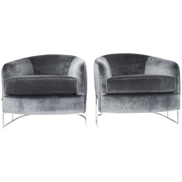 Pair of Milo Baughman Club Chairs