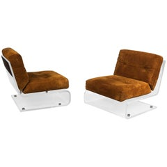 Pair of Lounge Chairs, France, 1970s