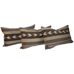 Navajo Indian Weaving Pillows with Arrows