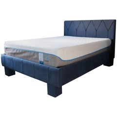 Contemporary Gothic Revival Upholstered Bed