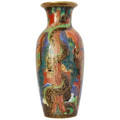Flame Fairyland Lustre Vase: Tree Serpent