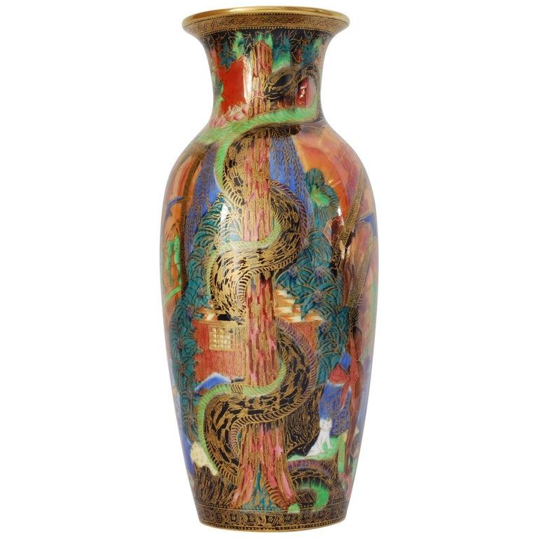 Flame Fairyland Lustre Vase: Tree Serpent
