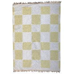 Swedish Traditional Flat-weave Woll Carpet Kelim Type, 1950-1960