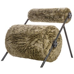 Fur Armchair in Brazilian Contemporary Style
