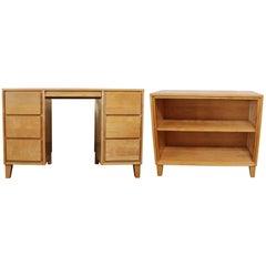 Russel Wright for Conant Ball Desk and Bookshelf Set