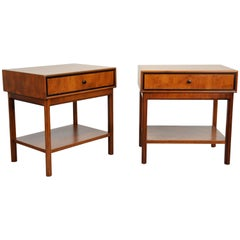 Pair of Milo Baughman for Arch Gordon Walnut Nightstands or Side Tables