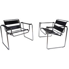 Mid-Century Modern Wassily-Style Lounge Chairs