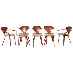 Set of Eight Norman Cherner Dining Chairs, Made by Plycraft in the USA, 1960s