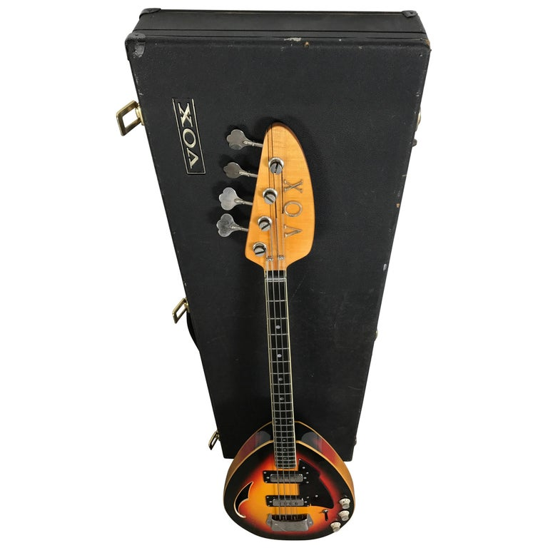 Rare 1968 Vox Teardrop Bass Guitar V284 Stinger IV, Made in Italy