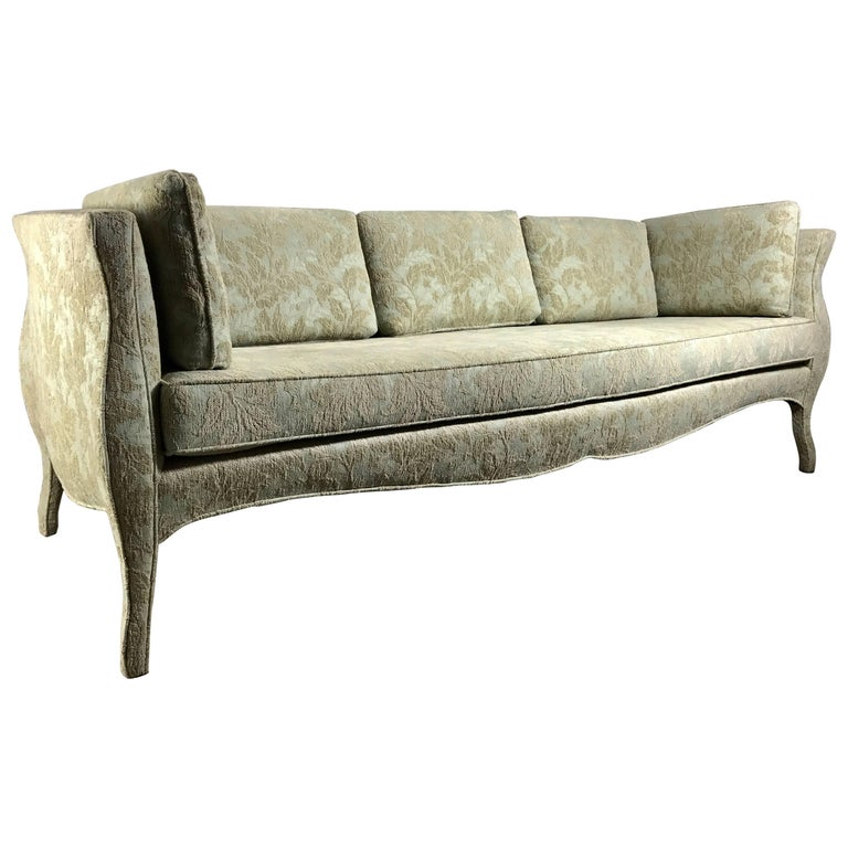 Unusual Sofas For Sale: Unusual Sofa, Bombay Shape, Upholstered Legs, Baker