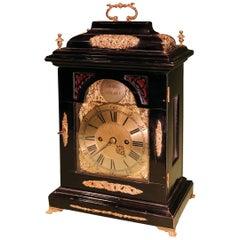 18th Century ebonized bracket clock signed 'Skiba Oundle'