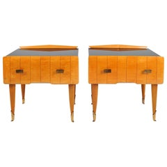 1940s Bedside Tables or Nightstands Attributed to Osvaldo Borsani