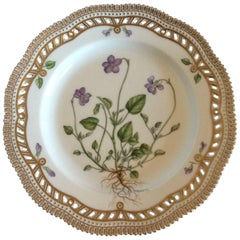 Royal Copenhagen Flora Danica Lunch Plate with Pierced Border #3554