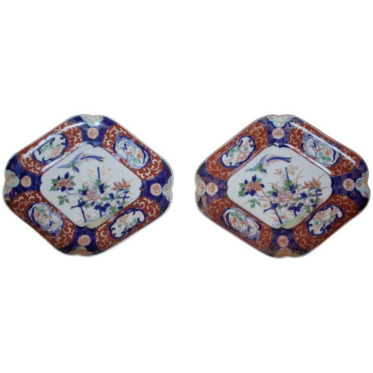 Pair of Imari Plates, 19th Century For Sale