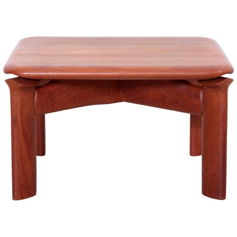 Danish 1970s Studio Side or End Table in Solid Teak