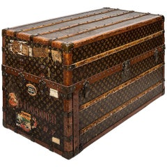 Early 20th Century Louis Vuitton Travel Wardrobe Trunk