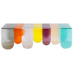 Lunapark Colored Murano Glass Coffee Table, New Colors