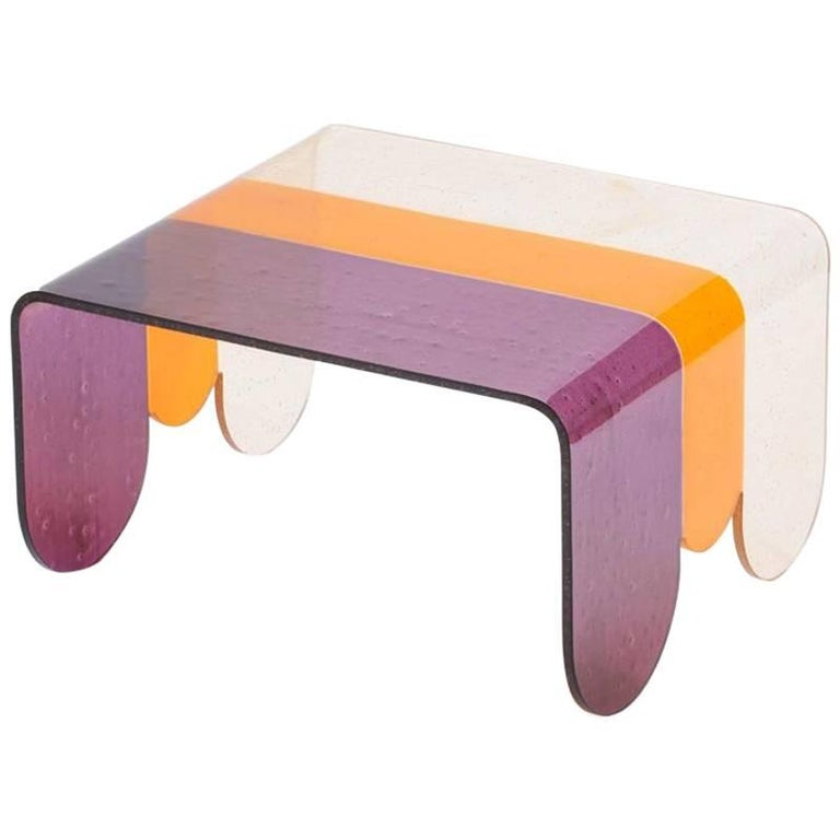 Lunapark Small Colored Murano Glass Coffee Table For Sale At 1stdibs