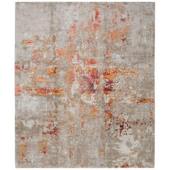 Hand-Knotted Rug in Silk and Wool By Thibault Van Renne