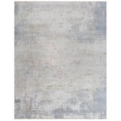 Autumn Collection Hand-Knotted Rug in Silk and Wool by Thibault Van Renne