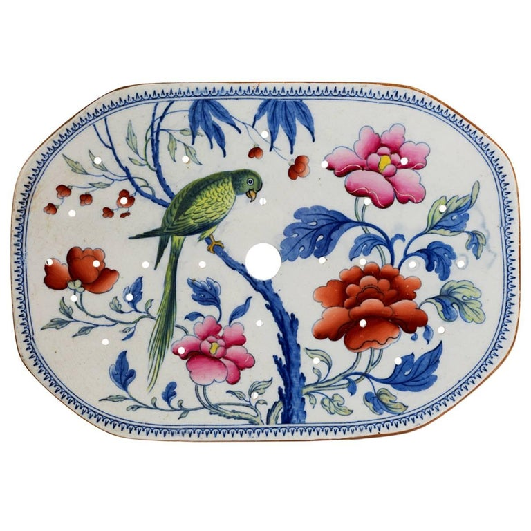 Late 19th Century Stone China Turkey Drainer For Sale