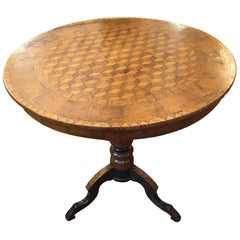 Mid-19th Century Italian Marquetry Circular Centre Table from Rolo