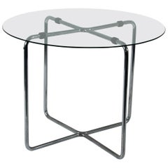 Marcel Breuer Thonet Glas Table with Label, Pre 1939 Midcentury