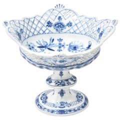 Meissen Blue Onion Centerpiece or Fruit Bowl