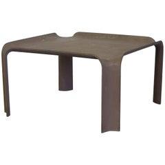 1967, Pierre Paulin, Early More Elegant Side Table Model 877 in Chocolate Brown