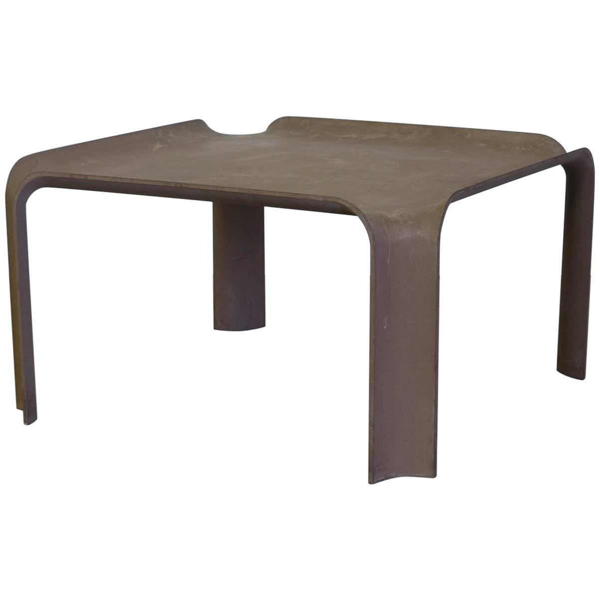 Superieur 1967, Pierre Paulin, Early More Elegant Side Table Model 877 In Chocolate  Brown For