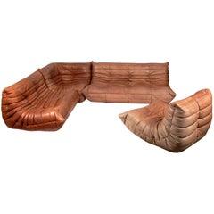 Sculptural Leather Togo Sofa by Michel Ducaroy for Ligne Roset