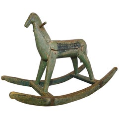 Toy for Child in the Shape of Rocking Horse, 19th Century