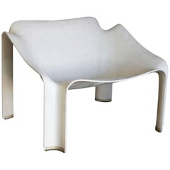 1963, Pierre Paulin, Early F303 Lounge Chair in Cream / White for Artifort