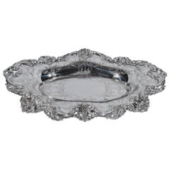 Beautiful and Sumptuous Shreve & Co. Sterling Silver Bread Tray