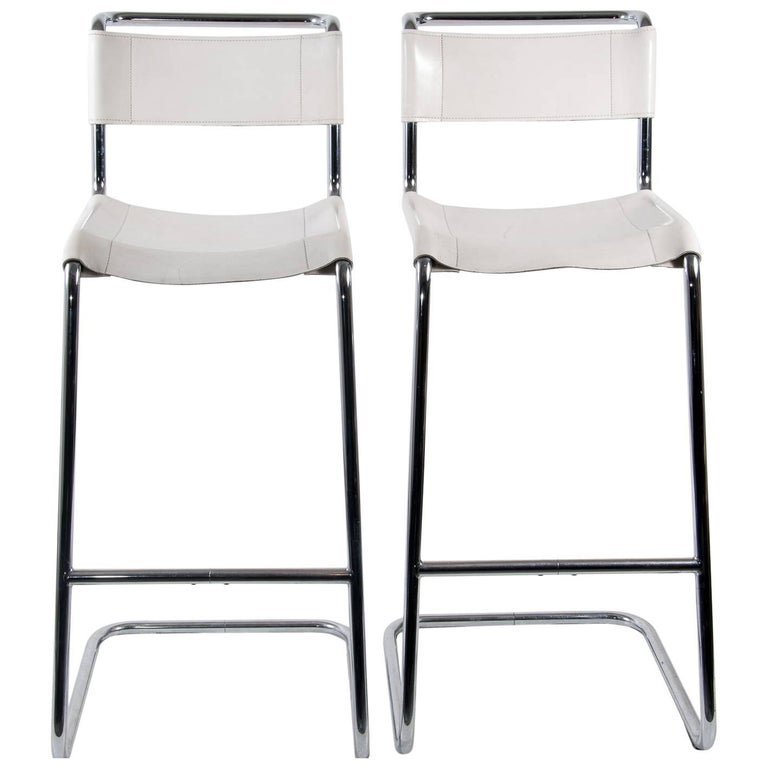 Pair Of S33h Thonet Bar Stool Designed By Mart Stam At 1stdibs