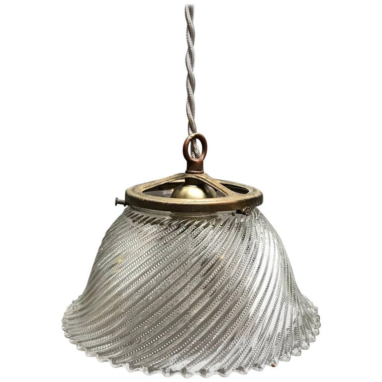 Industrial swirled holophane glass bell pendant light for sale at industrial swirled holophane glass bell pendant light for sale aloadofball Gallery