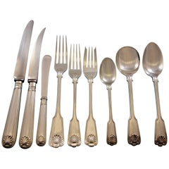 Fiddle Thread and Shell by James Robinson Sterling Silver Flatware Dinner Set