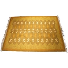 Midcentury Swedish Flat-Weave Double Weave Carpet