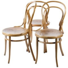 Set of Four Thonet Chairs No. 14
