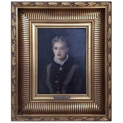 Peder Monsted, Portrait of a Woman. Signed P. Monsted