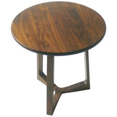 Modern Side Table in Black Walnut with Oil and Wax Finish