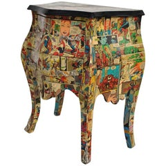 Bombay Nightstands with Decoupage Spiderman Artwork