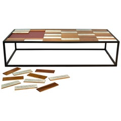 Coffee Table in Peroba Wood Parquet, Brazilian Contemporary Style