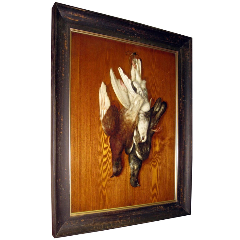 Trompe l'oeil Framed Panel Sporting Scene in the Style of George Cope